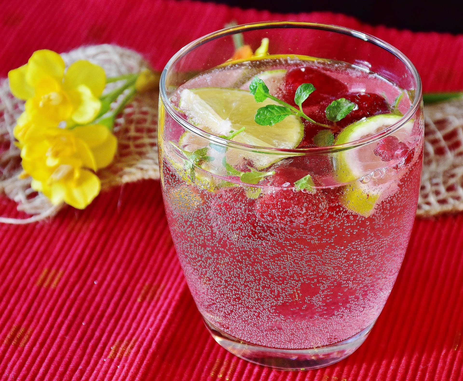 sparkling water infused with fruit